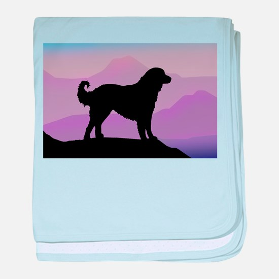 Akbash Purple Mountains baby blanket