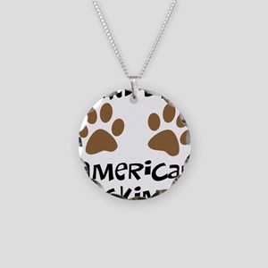 Owned By An American Eskimo Necklace Circle Charm