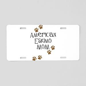 American Eskimo Mom Aluminum License Plate