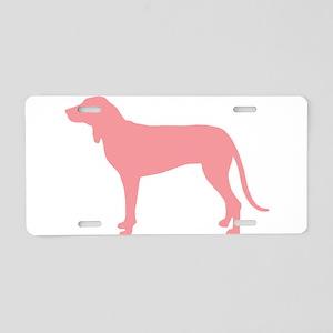 Ariegeois Retro Pink Aluminum License Plate