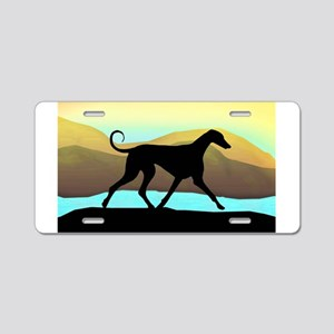 Azawakh Seaside Aluminum License Plate