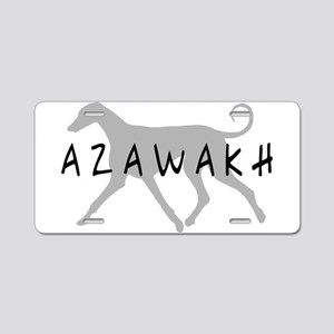 Azawakh Dogs Aluminum License Plate