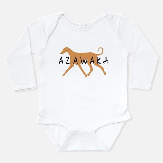 Azawakh Dog Long Sleeve Infant Bodysuit