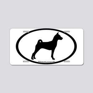Basenji Dog Oval Aluminum License Plate