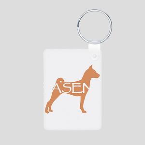 Basenji Dog Classic Aluminum Photo Keychain