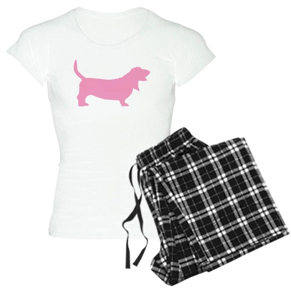 CafePress Pink Basset Hound Women s Pajamas (514157496)  98a21fa00