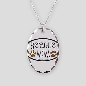 Beagle Mom Oval Necklace Oval Charm