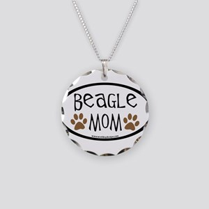Beagle Mom Oval Necklace Circle Charm