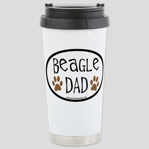 Beagle Dad Oval Stainless Steel Travel Mug