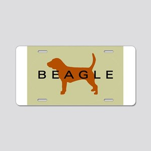 Beagle Dog Aluminum License Plate