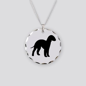 Bedlington Terrier Necklace Circle Charm