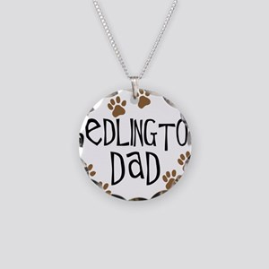 Bedlington Dad Necklace Circle Charm