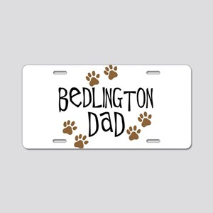 Bedlington Dad Aluminum License Plate