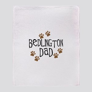 Bedlington Dad Throw Blanket