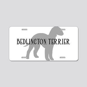 Bedlington Terrier Aluminum License Plate