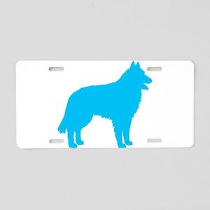 Blue Belgian Sheepdog Aluminum License Plate