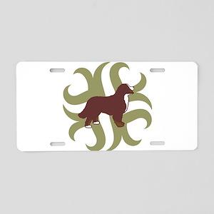 Bernese Mt. Dog Tribal Aluminum License Plate