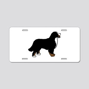 Tri Color Bernese Dog Aluminum License Plate