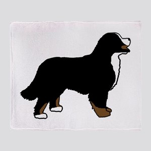 Tri Color Bernese Dog Throw Blanket