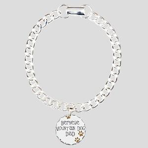 Bernese Mt. Dog Dad Charm Bracelet, One Charm