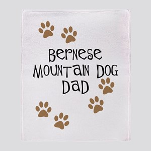 Bernese Mt. Dog Dad Throw Blanket