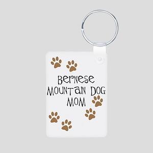 Bernese Mt. Dog Mom Aluminum Photo Keychain