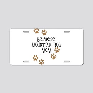 Bernese Mt. Dog Mom Aluminum License Plate