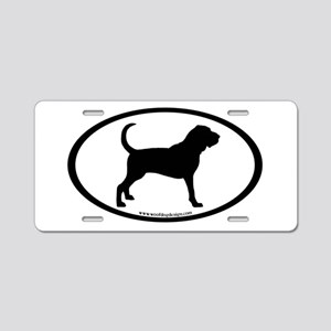 Bloodhound Oval Aluminum License Plate