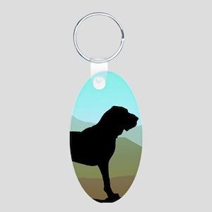 Craftsman Bloodhound Aluminum Oval Keychain