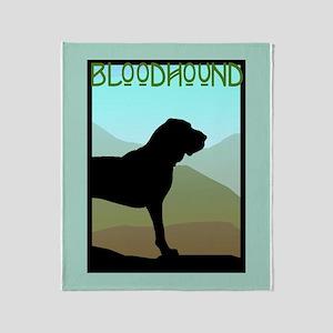 Craftsman Bloodhound Throw Blanket