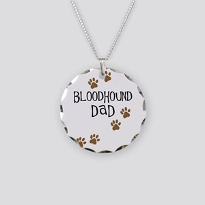 Bloodhound Dad Necklace Circle Charm