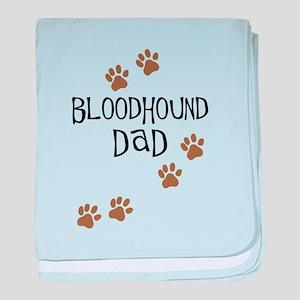 Bloodhound Dad baby blanket
