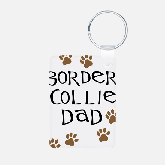 Border Collie Dad Keychains