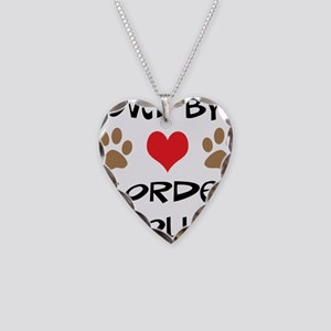 Loved By A Border Collie Necklace Heart Charm