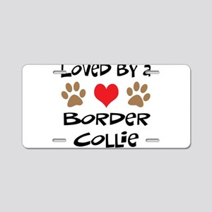 Loved By A Border Collie Aluminum License Plate