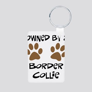 Owned By A Border Collie Aluminum Photo Keychain