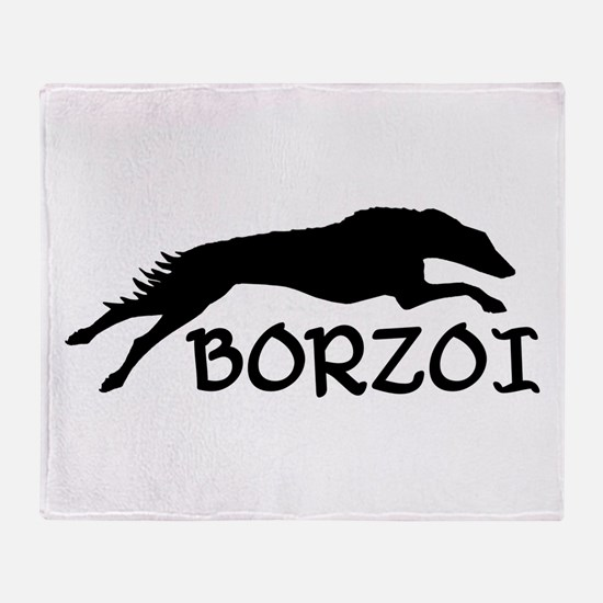 Cute Borzoi Throw Blanket