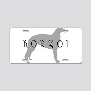 borzoi dog breed Aluminum License Plate