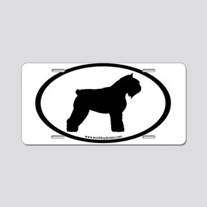 Bouvier Oval Aluminum License Plate