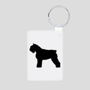 Bouvier des Flandres Dog Aluminum Photo Keychain