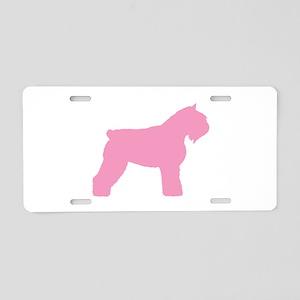 Pink Bouvier Des Flandres Aluminum License Plate