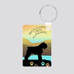 Bouvier By The Sea Aluminum Photo Keychain