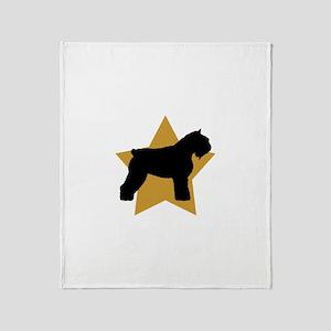 Gold Star Bouvier Throw Blanket