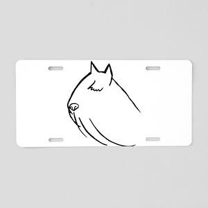 Bouvier Dog Head Sketch Aluminum License Plate