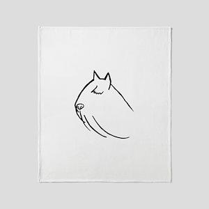 Bouvier Dog Head Sketch Throw Blanket