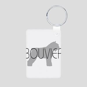 Bouvier Dog Aluminum Photo Keychain