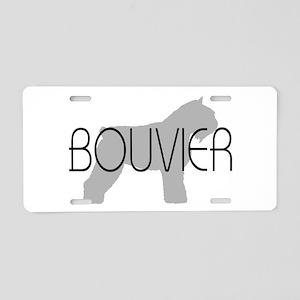 Bouvier Dog Aluminum License Plate