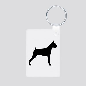 Boxer Dog Aluminum Photo Keychain