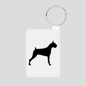 Boxer Dog Aluminum Photo Keychain