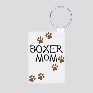 Boxer Mom Aluminum Photo Keychain